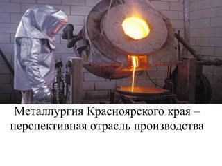 Металлургия Красноярского края – перспективная отрасль производства