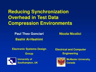 Reducing Synchronization Overhead in Test Data Compression Environments