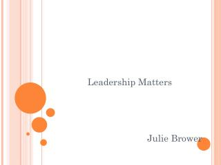 Leadership Matters