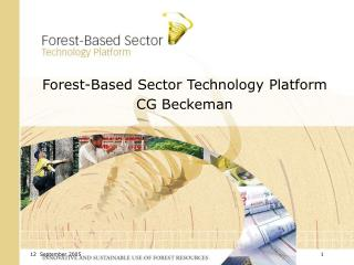 Forest-Based Sector Technology Platform CG Beckeman