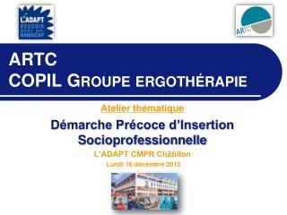 ARTC COPIL  Groupe ergoth�rapie