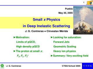 Small x Physics in Deep Inelastic Scattering