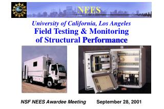 University of California, Los Angeles Field Testing & Monitoring of Structural  Performance