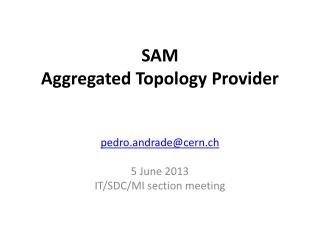 SAM  Aggregated Topology Provider