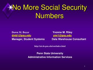 No More Social Security Numbers