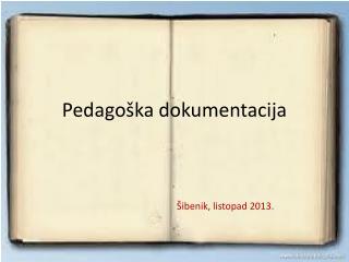 Pedagoška dokumentacija