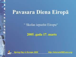 Pavasara Diena Eiropā