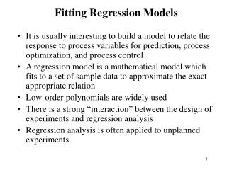 Fitting Regression Models