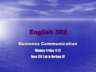 English 302