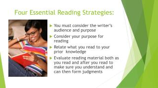 Four Essential Reading Strategies: