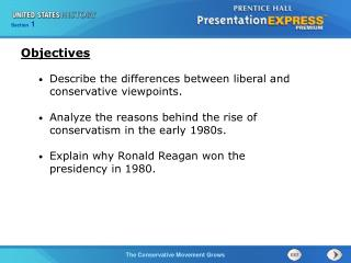 Describe the differences between liberal and conservative viewpoints.