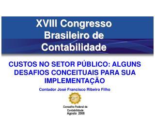 XVIII Congresso Brasileiro de Contabilidade