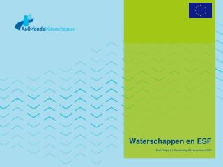 Waterschappen en ESF