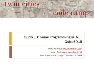Quixo 3D: Game Programming in .NET