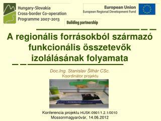 A regionális forrásokból származó funkcionális összetev ő k izolálásának folyamata