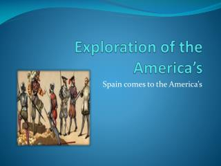 Exploration of the America's