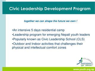 Civic Leadership Development Program