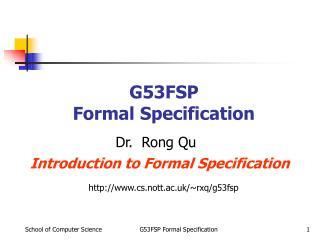G53FSP Formal Specification