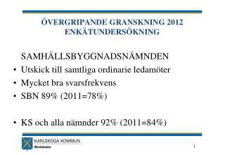 ÖVERGRIPANDE GRANSKNING 2012 ENKÄTUNDERSÖKNING