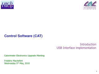 Control Software (CAT)
