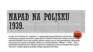 Napad na poljsku  1939.