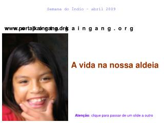 Semana do Índio – abril 2009