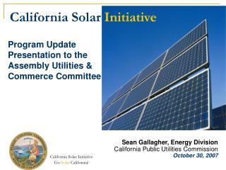 Program Update Presentation to the Assembly Utilities & Commerce Committee