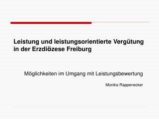 Leistung und leistungsorientierte Vergütung  in der Erzdi ö zese Freiburg