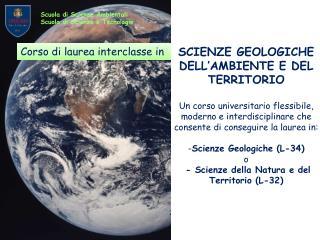 SCIENZE GEOLOGICHE DELL'AMBIENTE E DEL TERRITORIO
