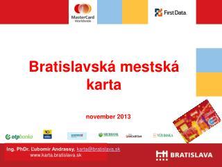 Bratislavská mestská karta