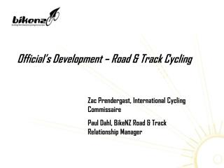 Official's Development – Road & Track Cycling