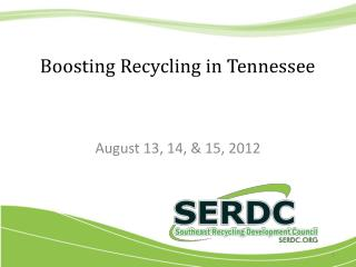 Boosting Recycling in Tennessee