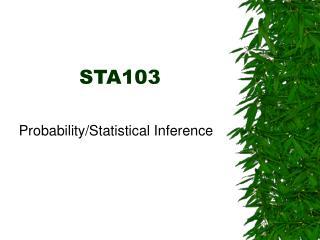 STA103