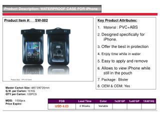 Product Item #:     SW-002