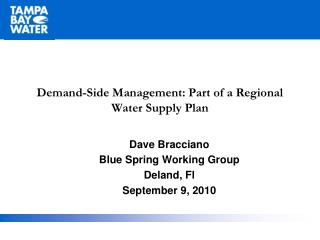 Demand-Side Management: Part of a Regional Water Supply Plan