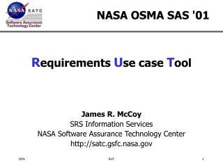 NASA OSMA SAS '01