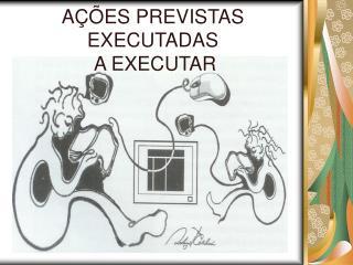 A��ES PREVISTAS EXECUTADAS   A EXECUTAR