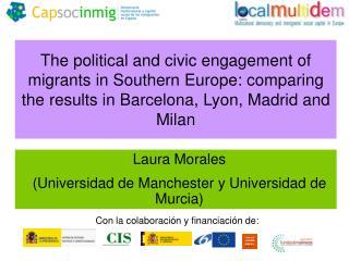 Laura Morales (Universidad de Manchester y Universidad de Murcia)