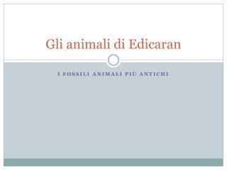 Gli animali di  Edicaran