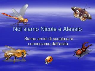 Noi siamo Nicole e Alessio
