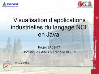 Visualisation d'applications industrielles du langage NCL en Java.