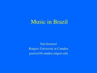 Music in Brazil
