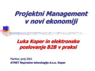 Projektni Management  v novi ekonomiji