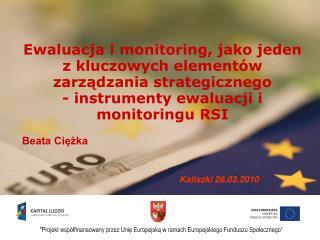 Ewaluacja i monitoring, jako jeden z kluczowych elementów zarządzania strategicznego