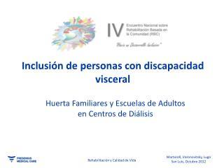 Huerta Familiares y Escuelas de Adultos  en Centros de Diálisis