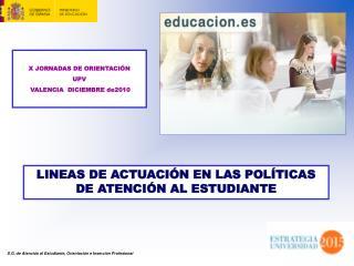 S.G. de Atención al Estudiante, Orientación e Inserción Profesional