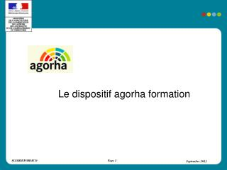 Le dispositif agorha formation