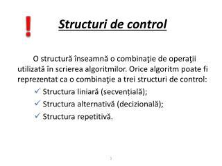 Structuri de control