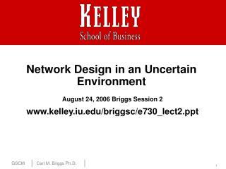 Network Design in an Uncertain Environment