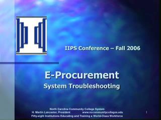 IIPS Conference – Fall 2006